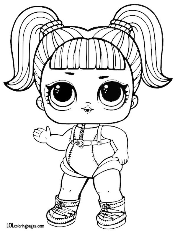 593x784 Glamstronaut Series L O L Surprise Doll Coloring Page Cp