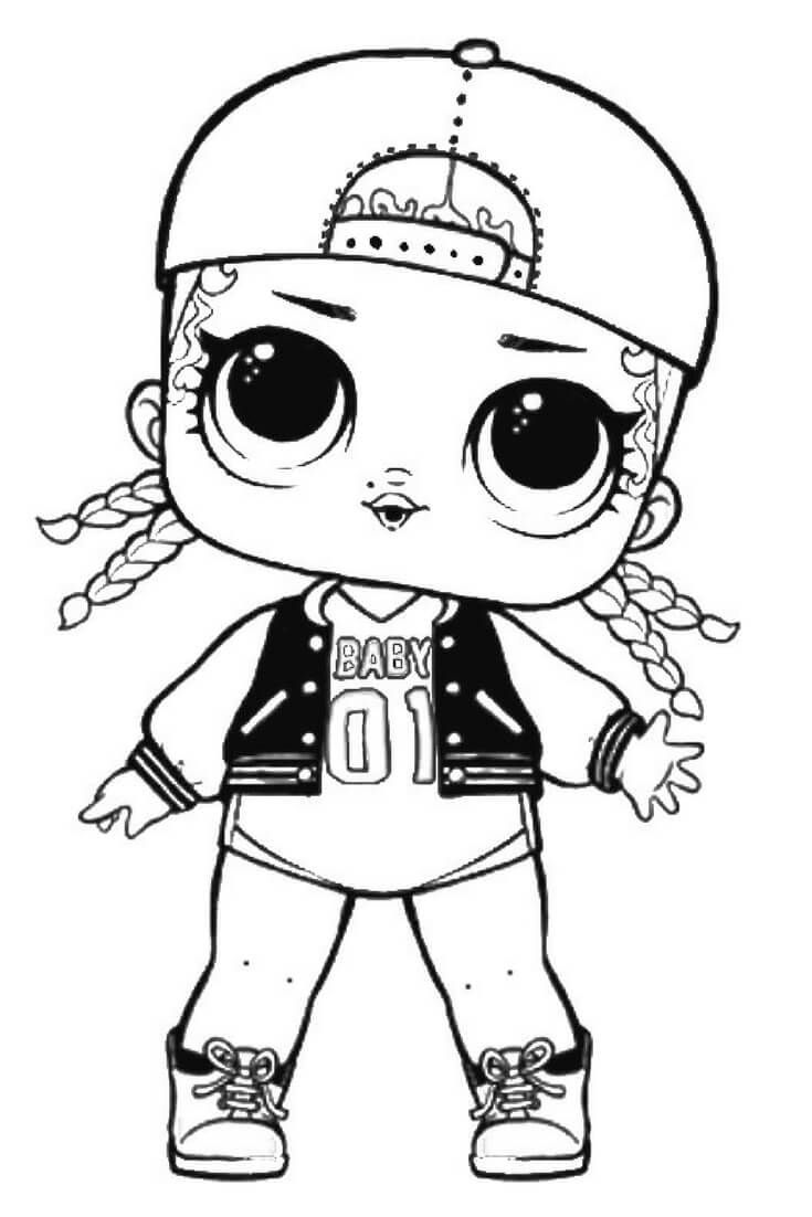 735x1102 Mc Swag Lol Suprise Doll Coloring Page Lol Surprise Doll Coloring