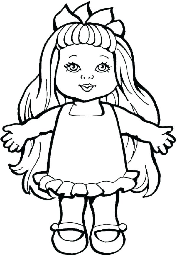 600x865 Paper Dolls Coloring Pages Unicorn Paper Doll Coloring Page