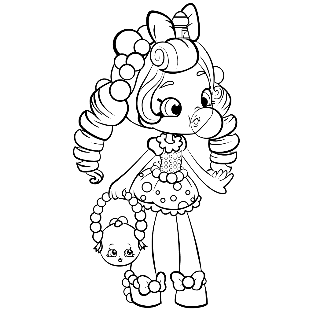 1024x1024 Shopkins Shoppies Doll Coloring Pages For Girls
