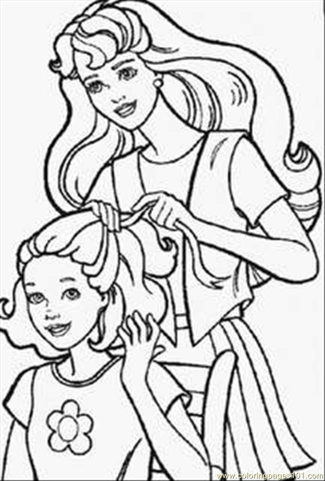 650x962 Barbie Doll Coloring Pages Coloring Page