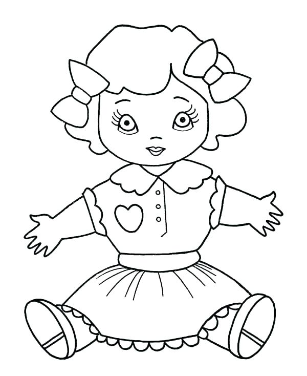 600x734 Barbie Doll Coloring Pages Free Barbie Doll Colouring Pages Girl