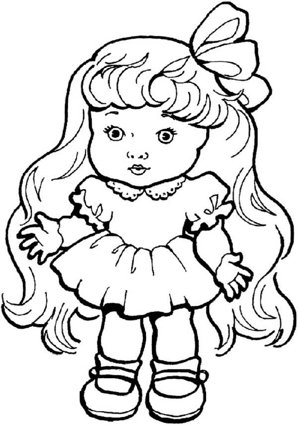 600x856 Beautiful Doll Toys Coloring Pages Best Place To Color