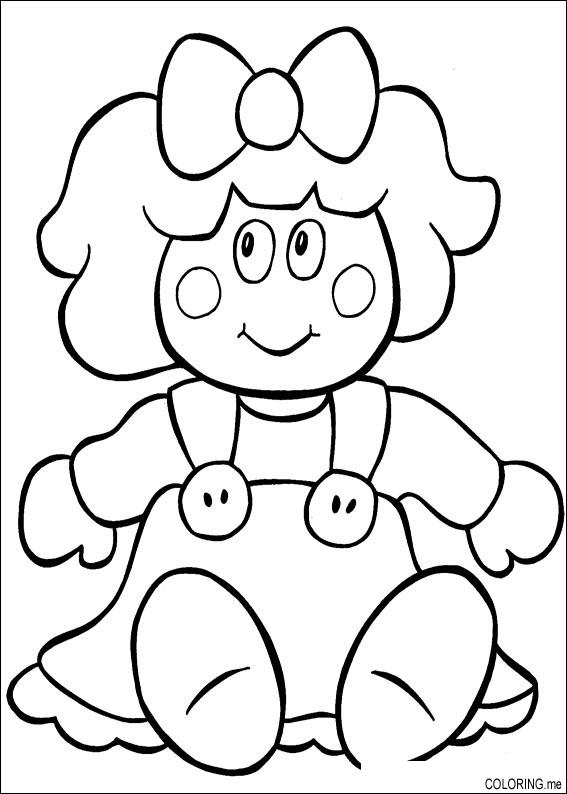 567x794 Christmas Doll Coloring Pages