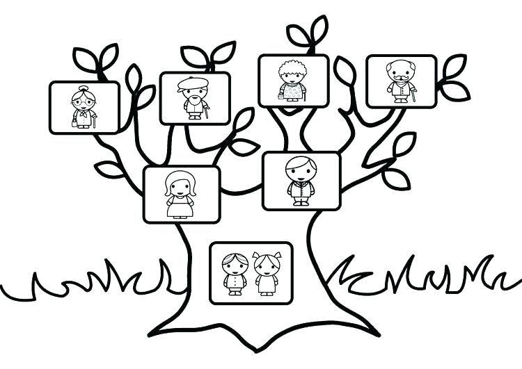 750x531 Jesse Tree Coloring Pages Tree Coloring Book Family Tree Coloring