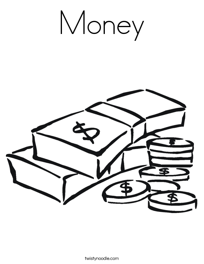 685x886 Money Coloring Pages