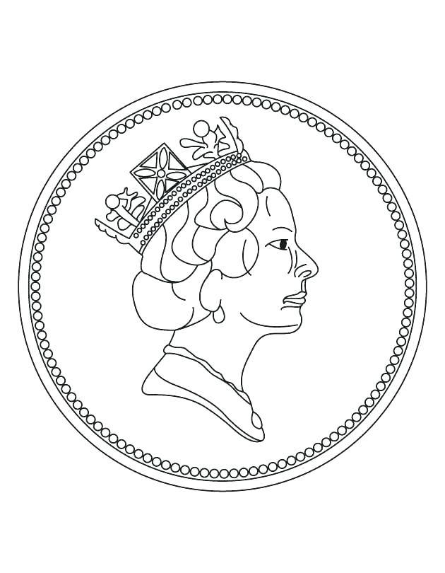 630x810 Dollar Coloring Page