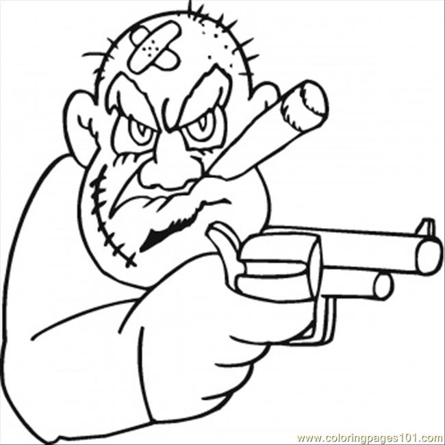 650x650 Old Mafioso Is Looking For Money Coloring Page