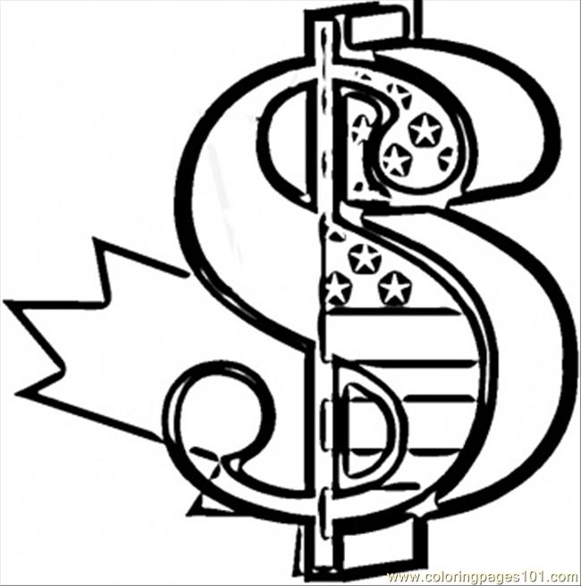 650x655 Dollar Sign Coloring Page Money Sign Coloring Pages Money Coloring