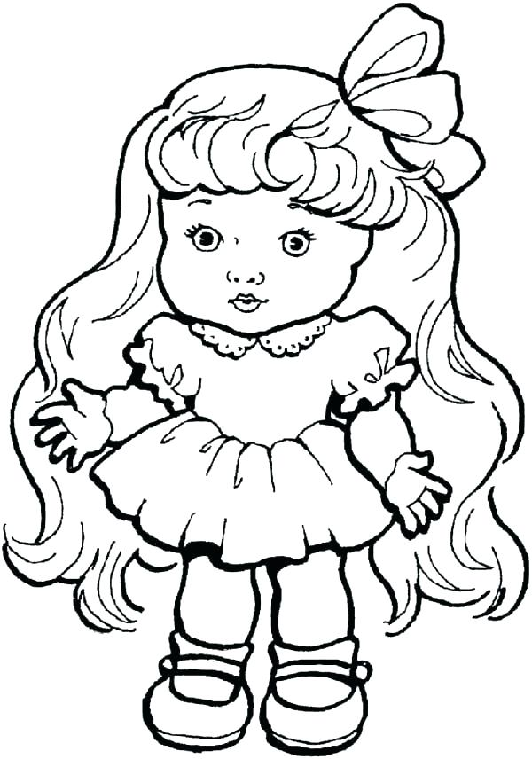 600x856 Doll Coloring Page Paper Doll Coloring Pages Printable Dollhouse