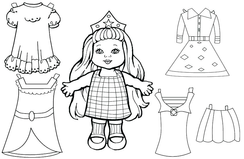 850x556 Doll Coloring Pages Monster High Printable Cosy Of Free Baby Dolls