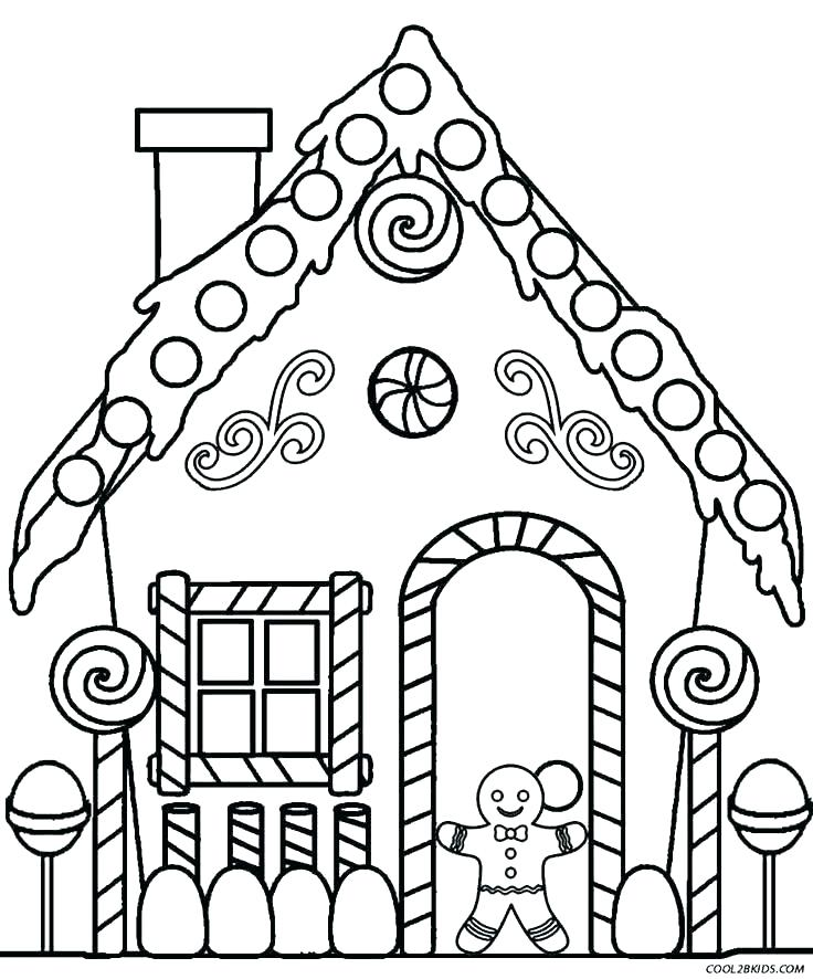 736x886 Haunted House Coloring