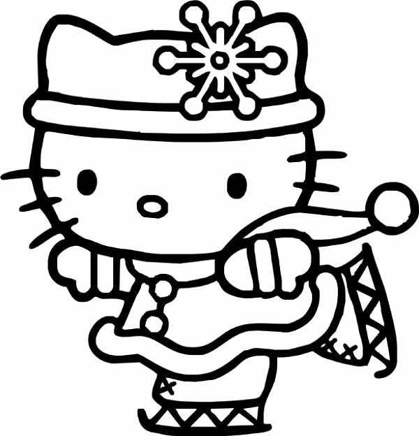 600x624 Hello Kitty Coloring Pages Color Inside The Lines Dollhouse
