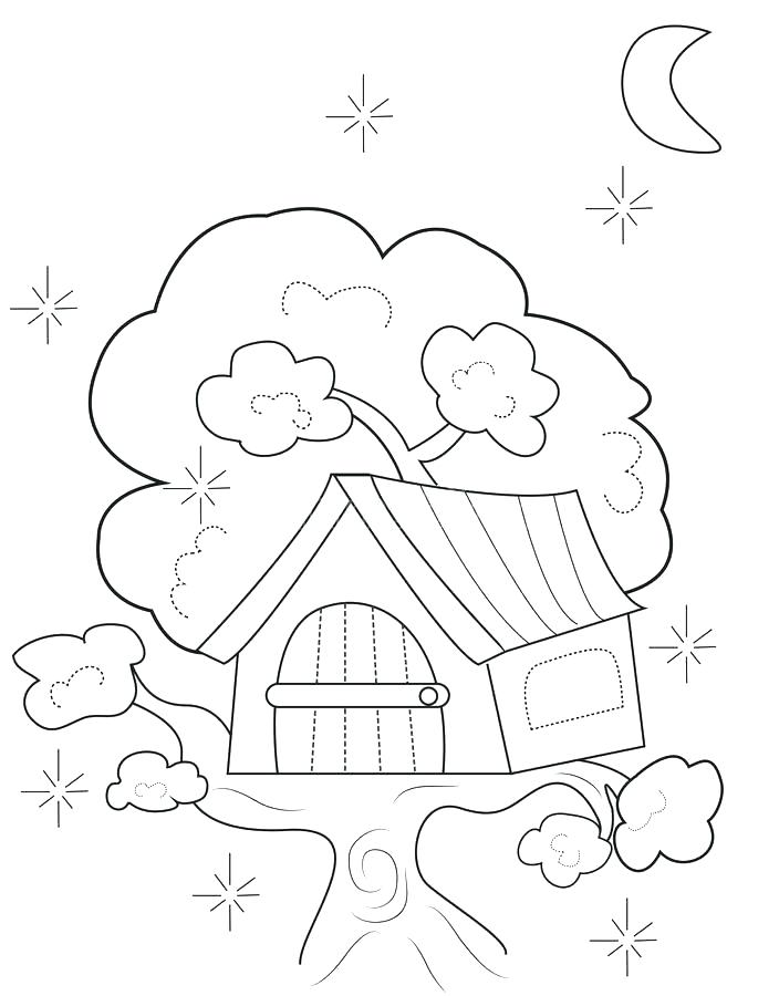 704x900 House Coloring Pages Printable Coloring Pages Download Tree House