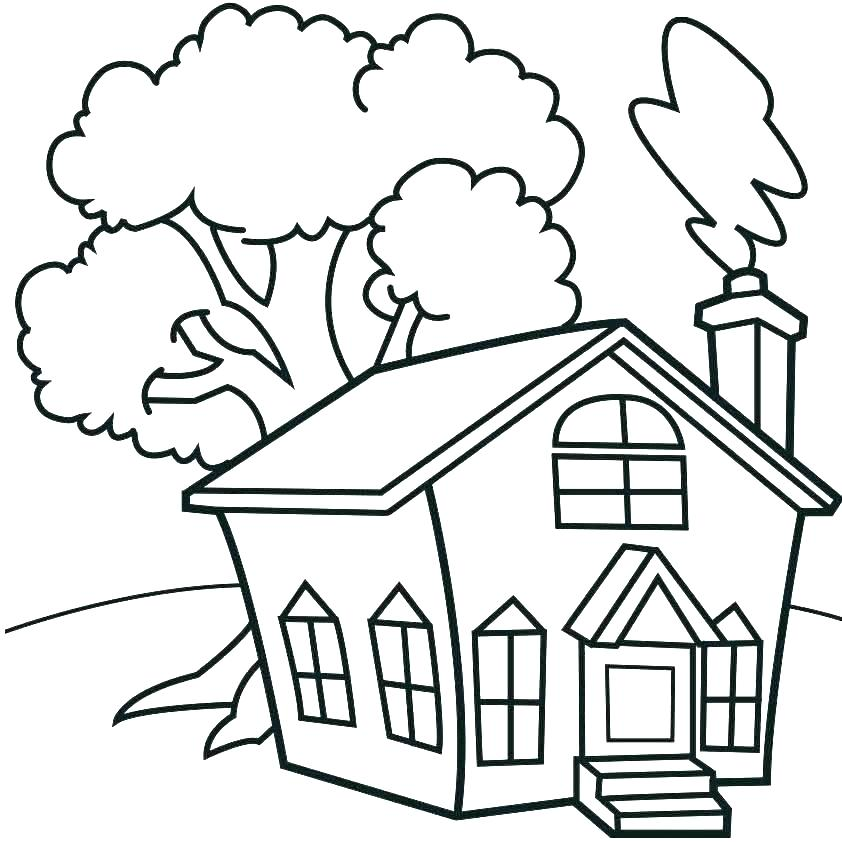 842x842 House Coloring Pages Printable Coloring Pages Of Houses Coloring