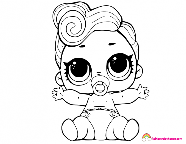 595x460 Lil Queen Lol Dolls Coloring Page