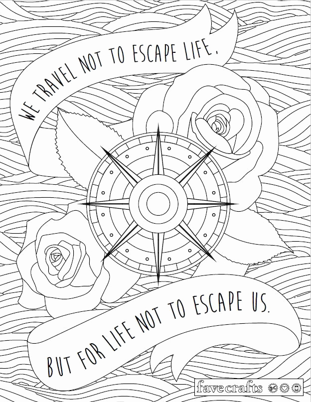 624x807 Travel Escape Adult Coloring Page Dollhouse Coloring Pages