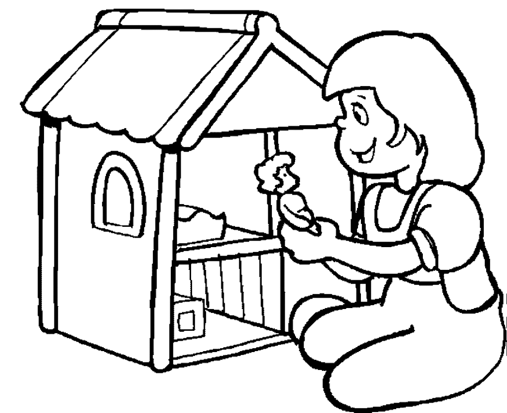 1024x834 Awesome Dollhouse Coloring Page Gallery Printable Coloring Sheet
