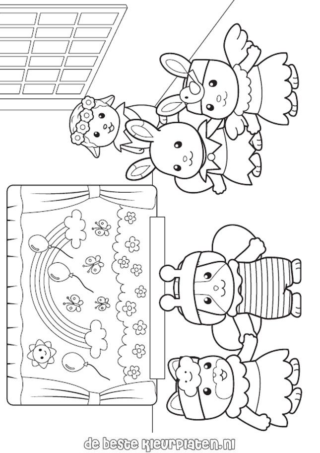 645x912 Calico Critters Coloring Page