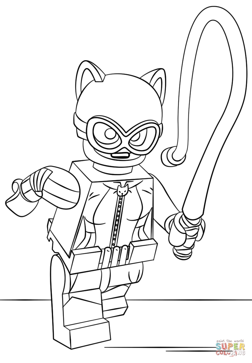 824x1186 Lego Catwoman Coloring Pages To Print Coloring For Kids