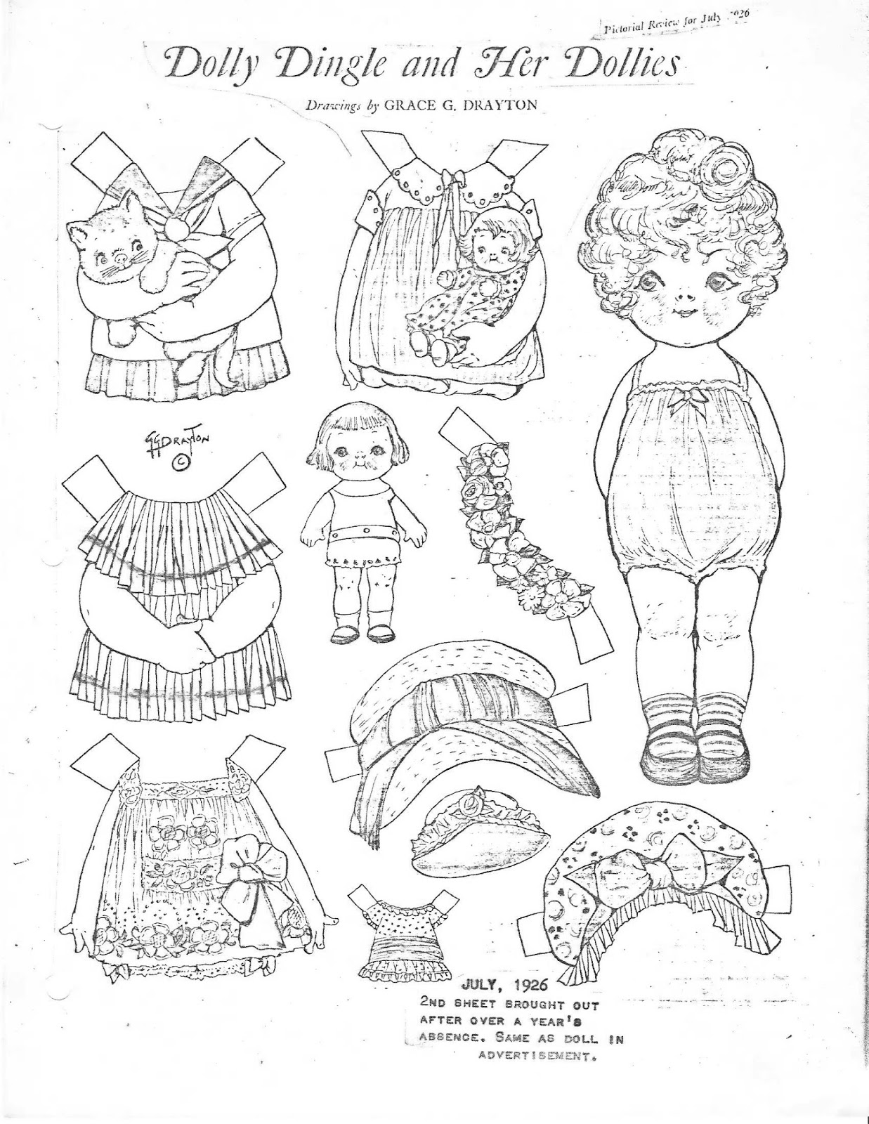 1237x1600 Miss Missy Paper Dolls Dolly Dingle Identification Guide Pt