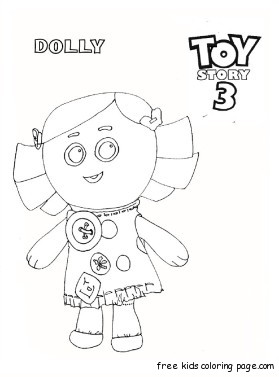 279x377 Printable Toy Story Dolly Coloring Pages For Kidsfree Printable