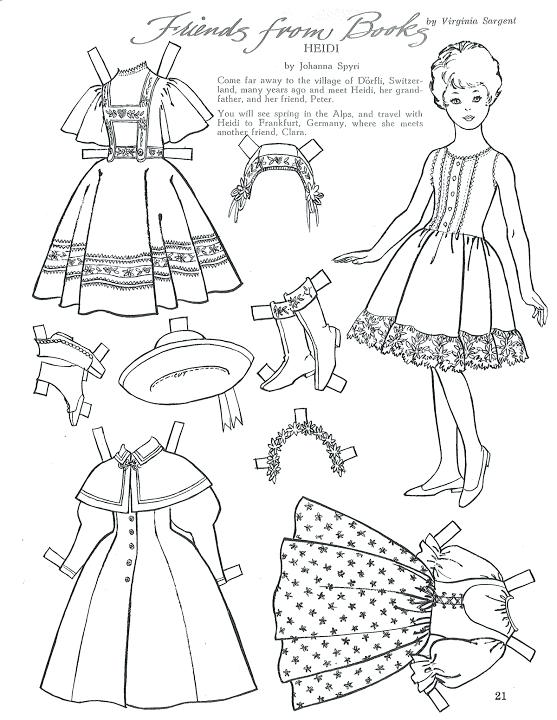 557x720 Vintage Dolly Dingle Paper Dolls School Kids Printable Coloring