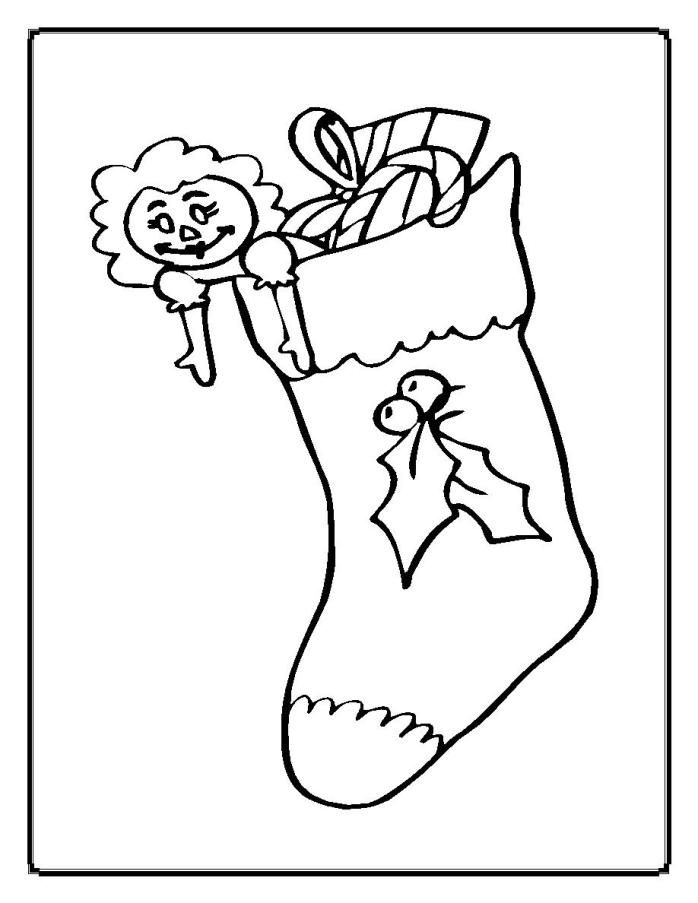 698x903 Christmas Stocking Coloring Pages