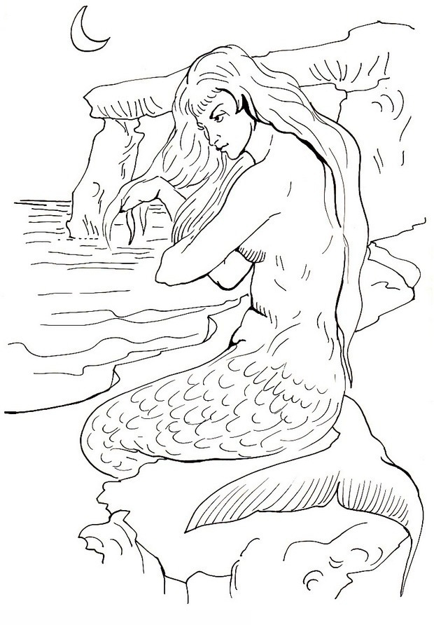 620x892 Mermaid Coloring Pages Popular Mermaid And Dolphin Coloring Pages