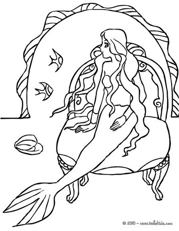 364x470 Mermaid With A Dolphin Coloring Pages