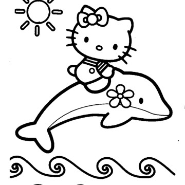 360x360 Dolphin And Mermaid Coloring Pages
