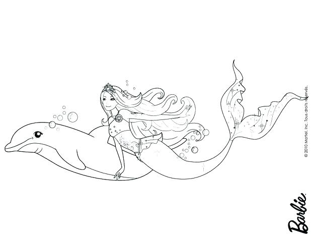 620x480 Mermaid And Dolphin Coloring Pages