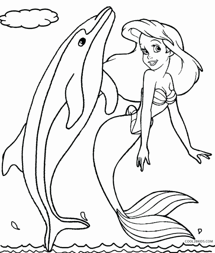 872x1024 Coloring Dolphin And Mermaid Coloring Pages Rides Little Mermaid