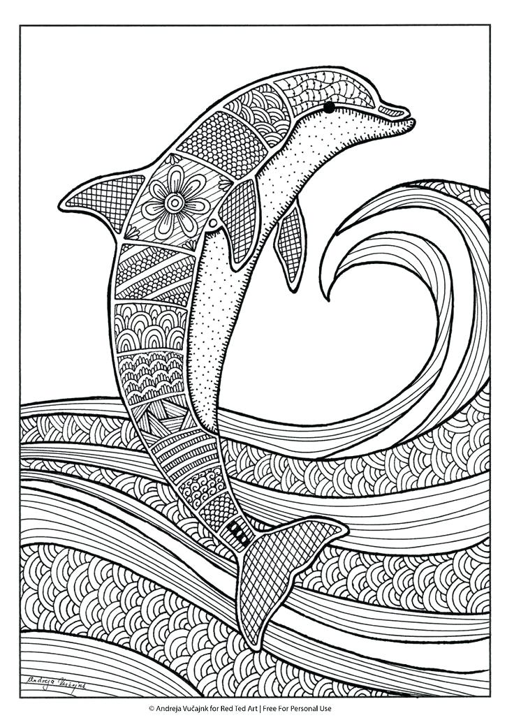 736x1041 Dolphin Coloring Pages Dolphin Splash Jump In The Air Coloring