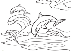 250x180 Dolphin Coloring Pages Printables