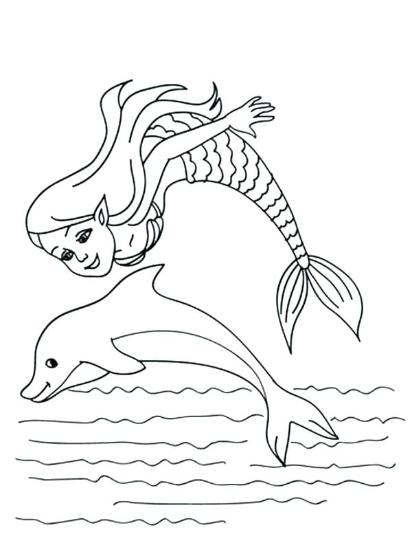 600x777 Mermaid Coloring Pages Free Dolphin Coloring Sheet Dolphin