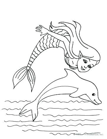 363x470 Dolphins Coloring Sheets