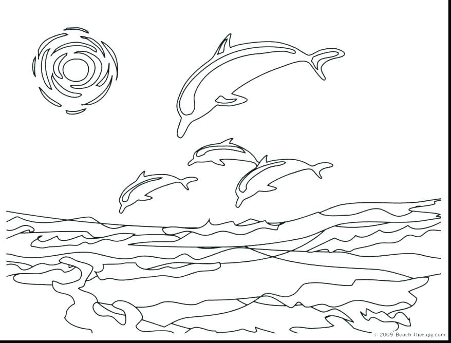 878x668 Dolphin Coloring Pages Dolphin Coloring Pages Printable Dolphin