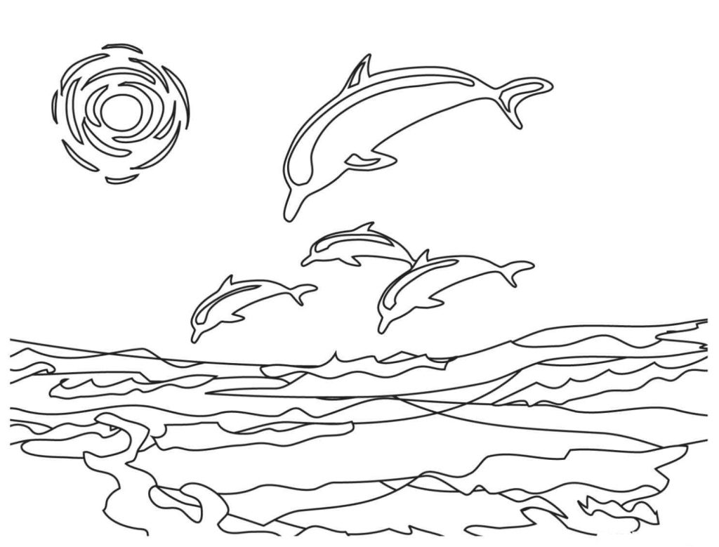 1024x779 Free Dolphin Coloring Pages Wallpaper Download Cucumberpress