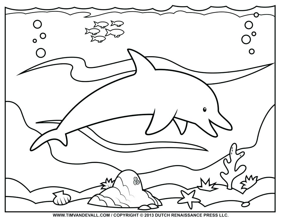 960x741 Nautical Coloring Pages Printable Dolphin Coloring Pages Free