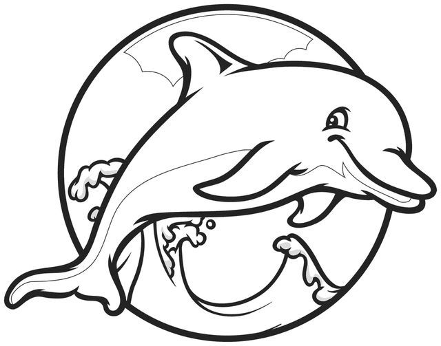 640x503 Cute Dolphin Coloring Pages Adult Coloring Pages