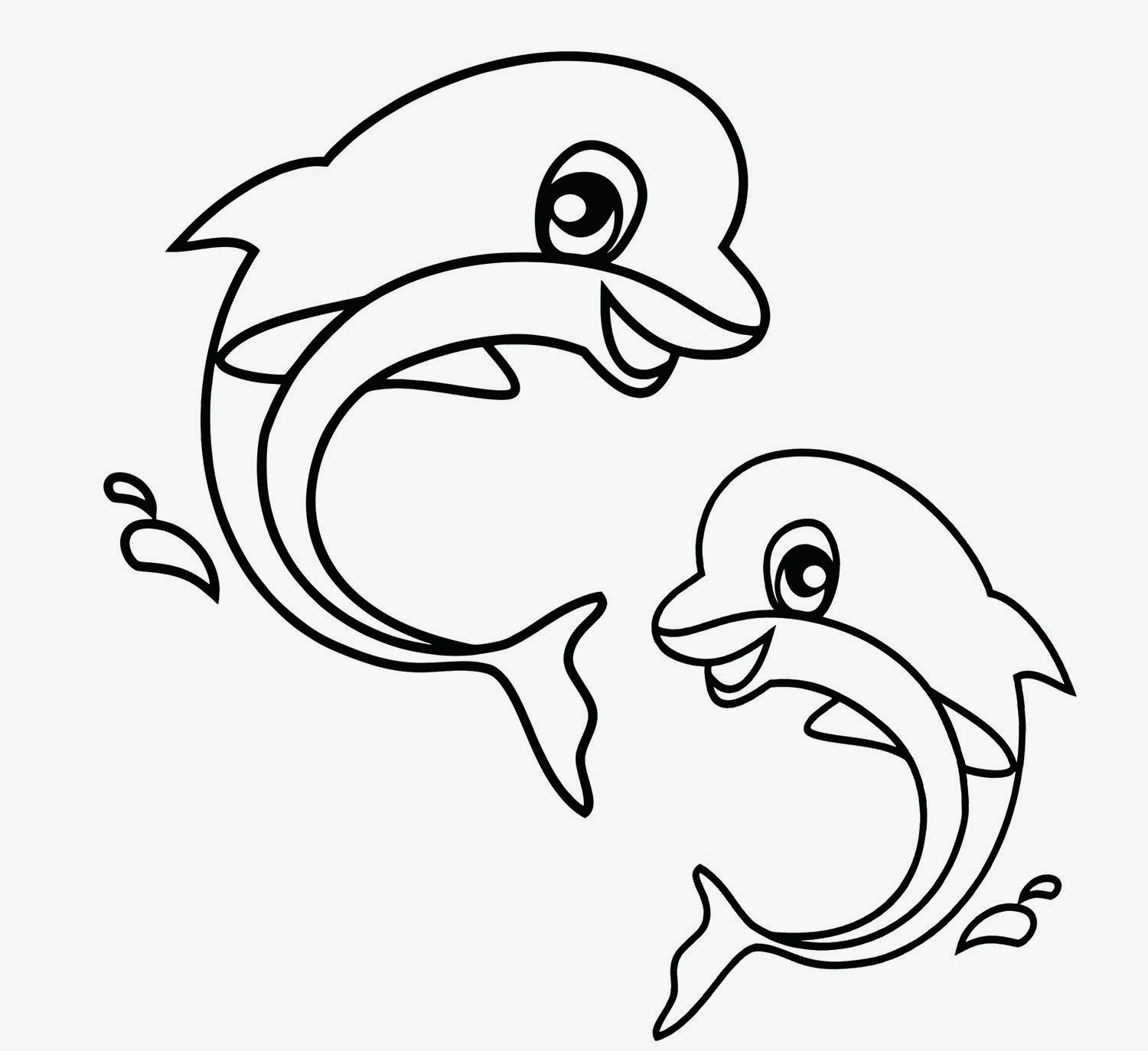 1500x1374 Dolphin Coloring Pages For Kids