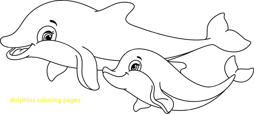 1023x462 Coloring Pages Of Dolphins Printable Dolphin Coloring Pages