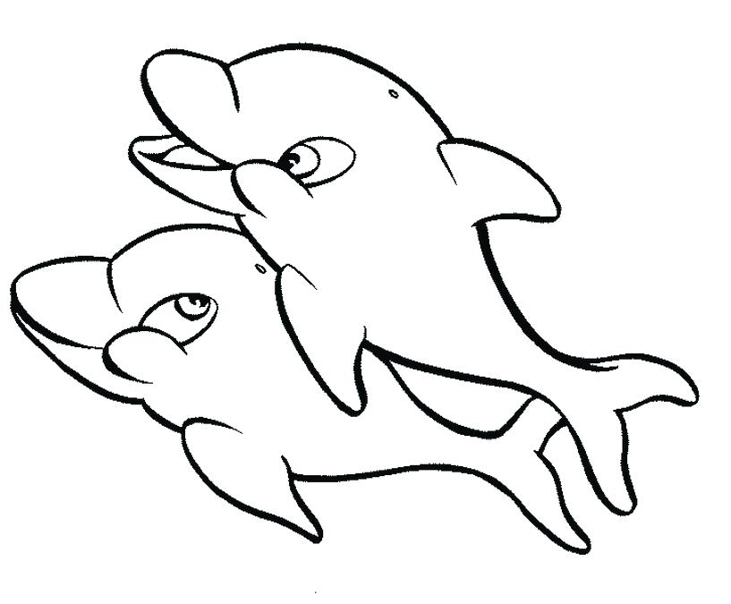 817x675 Dolphin Animals Printable Coloring Pages Printable Dolphin