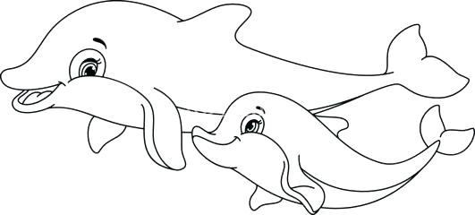 34 Dolphin Coloring Pages Printable - Free Printable Coloring Pages