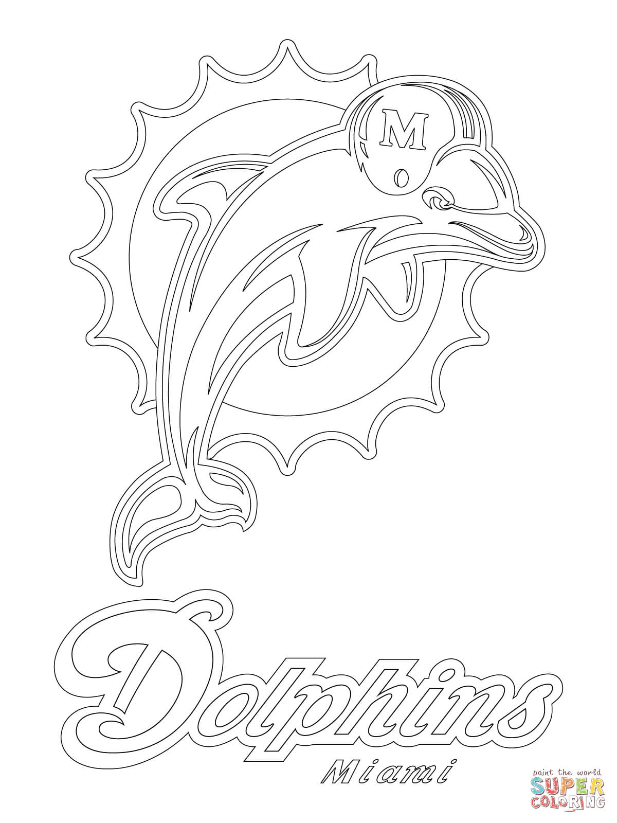 1200x1600 Prepossessing Miami Dolphins Coloring Pages Colouring In Beatiful