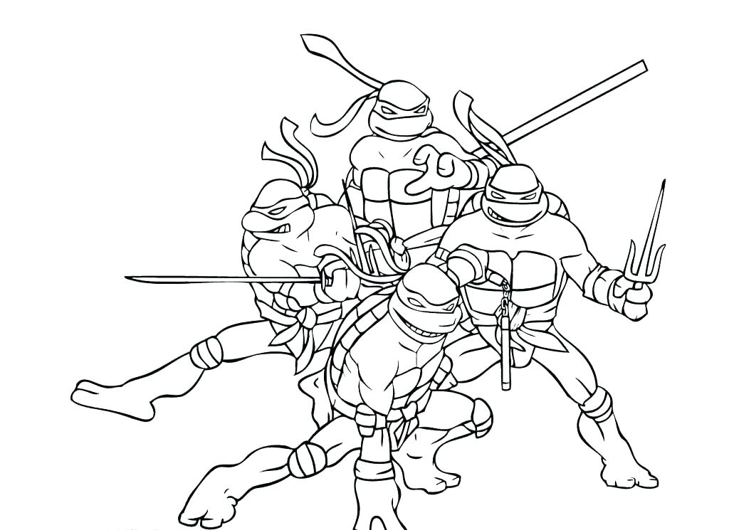 1024x745 Ninja Turtle Coloring Pages Ninja Turtle Coloring Pages As Well As