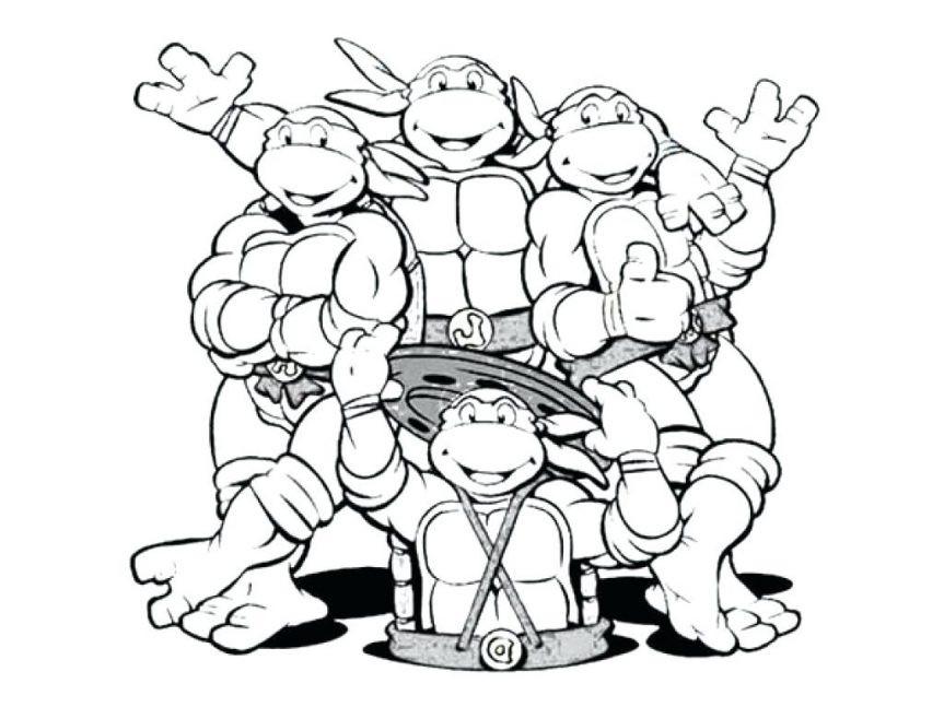 863x647 Teenage Mutant Ninja Turtle Coloring Pages Unique Donatello Ninja