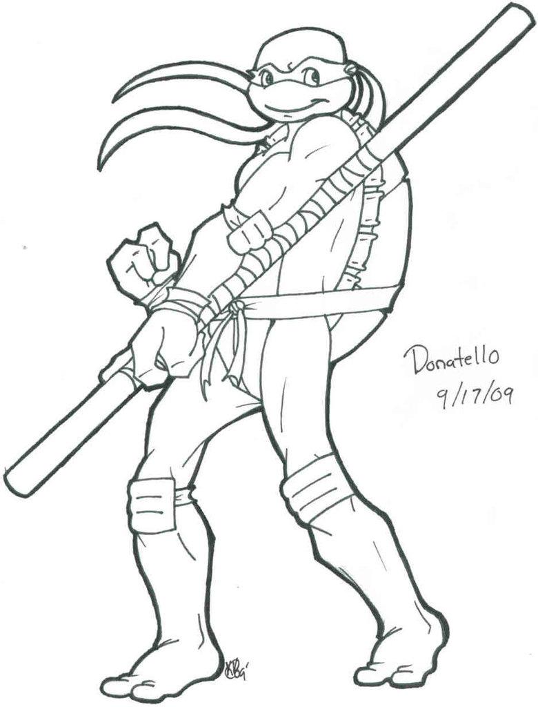 780x1024 Tmnt Donatello Coloring Pages Allmadecine Weddings