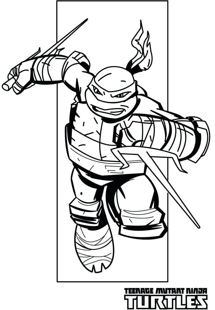 736x1061 Ninja Turtles Coloring Page Icontent